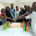Viering in Abuja, Nigeria van de 110e verjaardag van KNCV in 2013. Foto door Johan Verhoef.